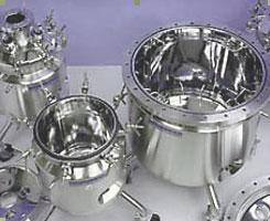 Electro-polished stainless steel sterile vessels